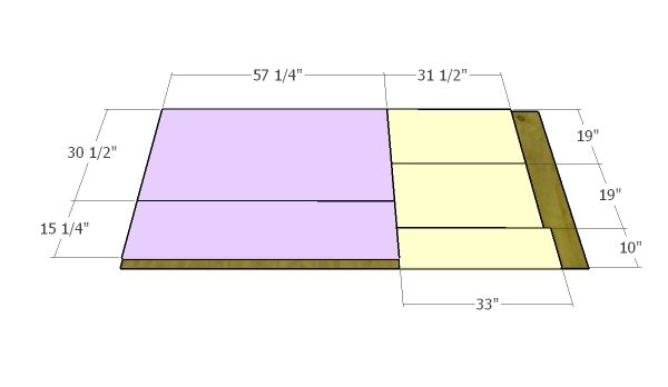 Forth sheet of plywood