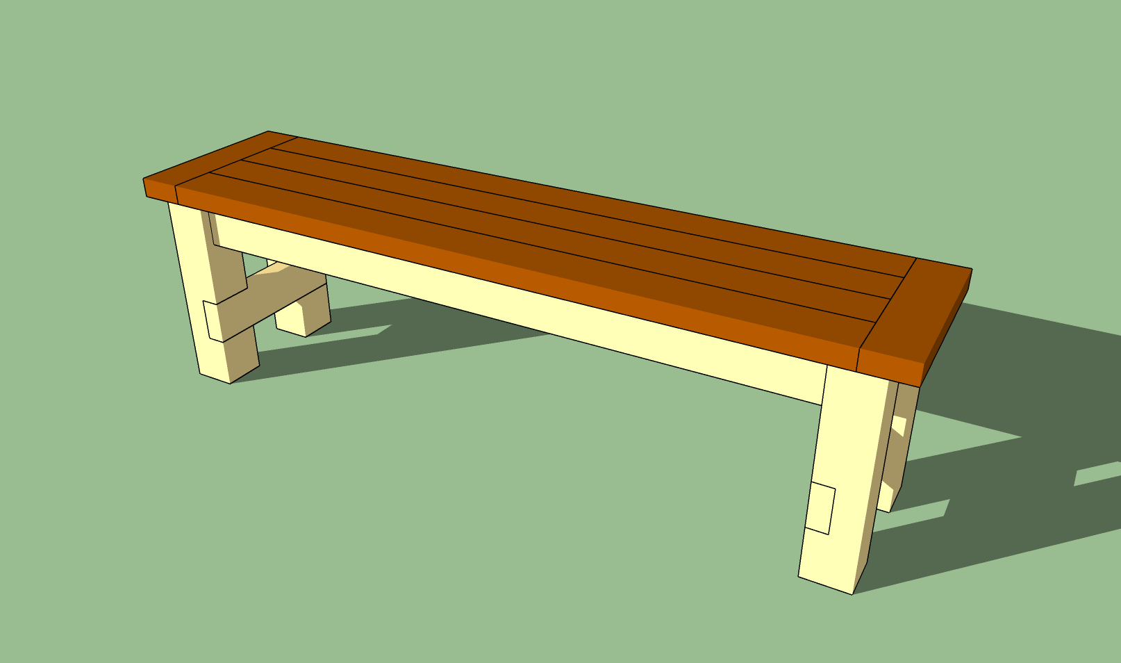 Woodworking simple outdoor bench seat plans PDF Free Download
