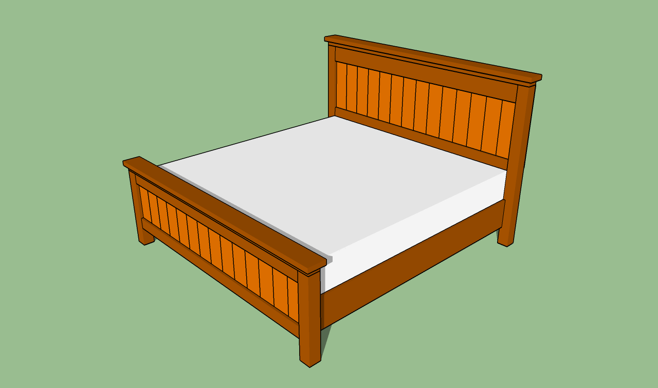 Woodwork king size bed frame building plans pdf plans A frame blueprints