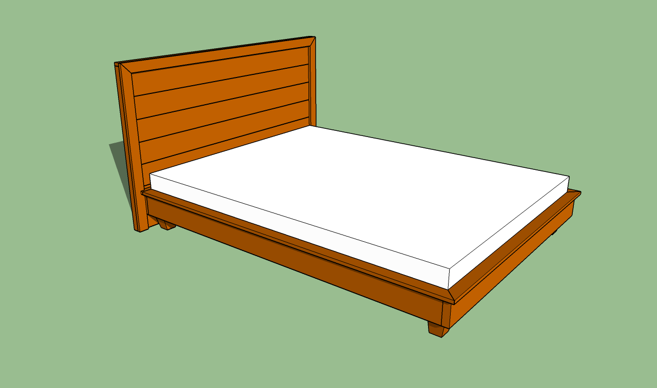 Building a simple platform bed frame quick woodworking Simple wood bed frame designs
