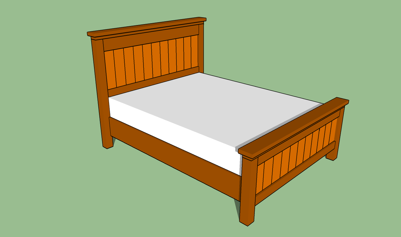 Woodwork Plans For Building A Queen Size Bed Frame PDF Plans