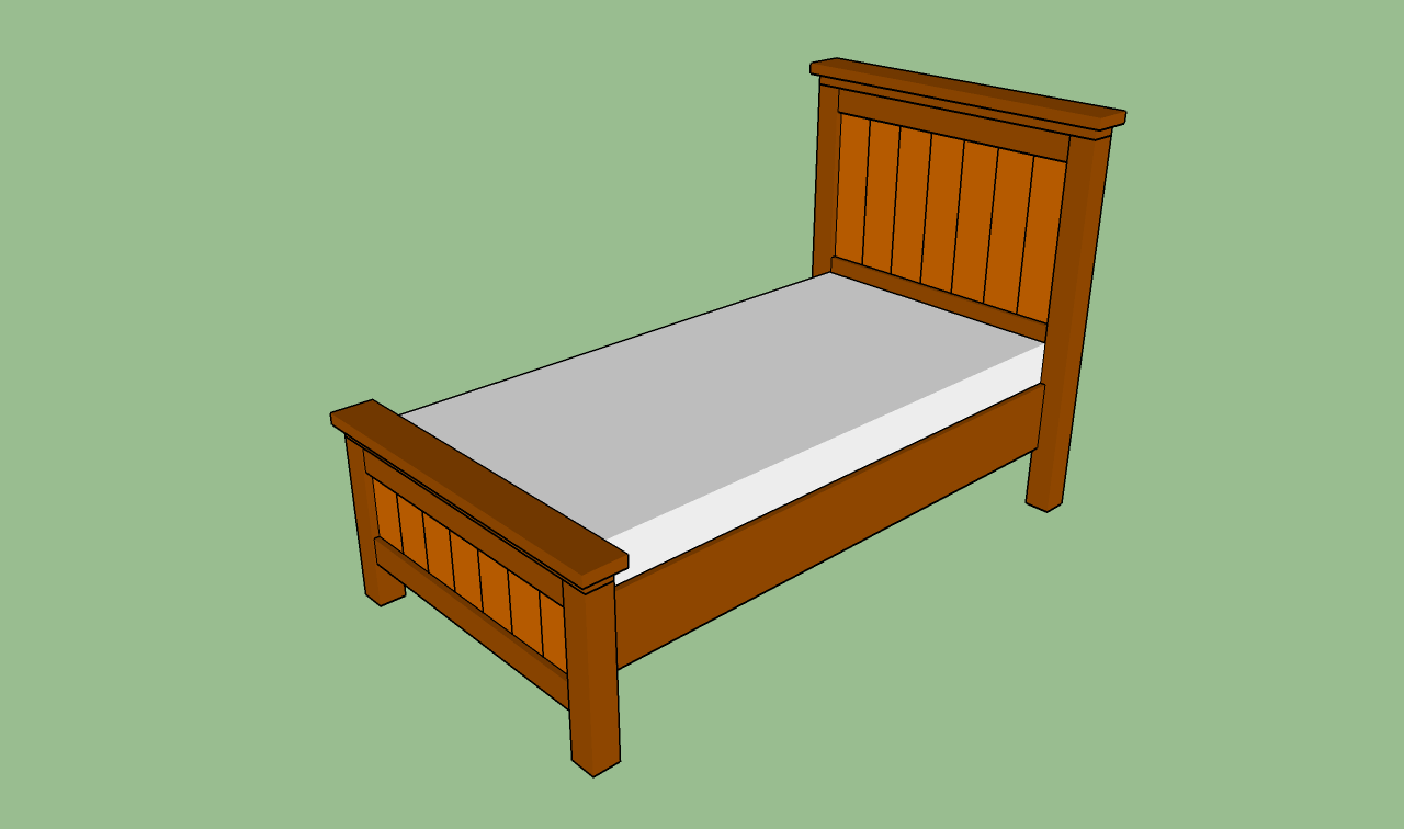 Woodwork Twin Bed Frame Plans PDF Plans