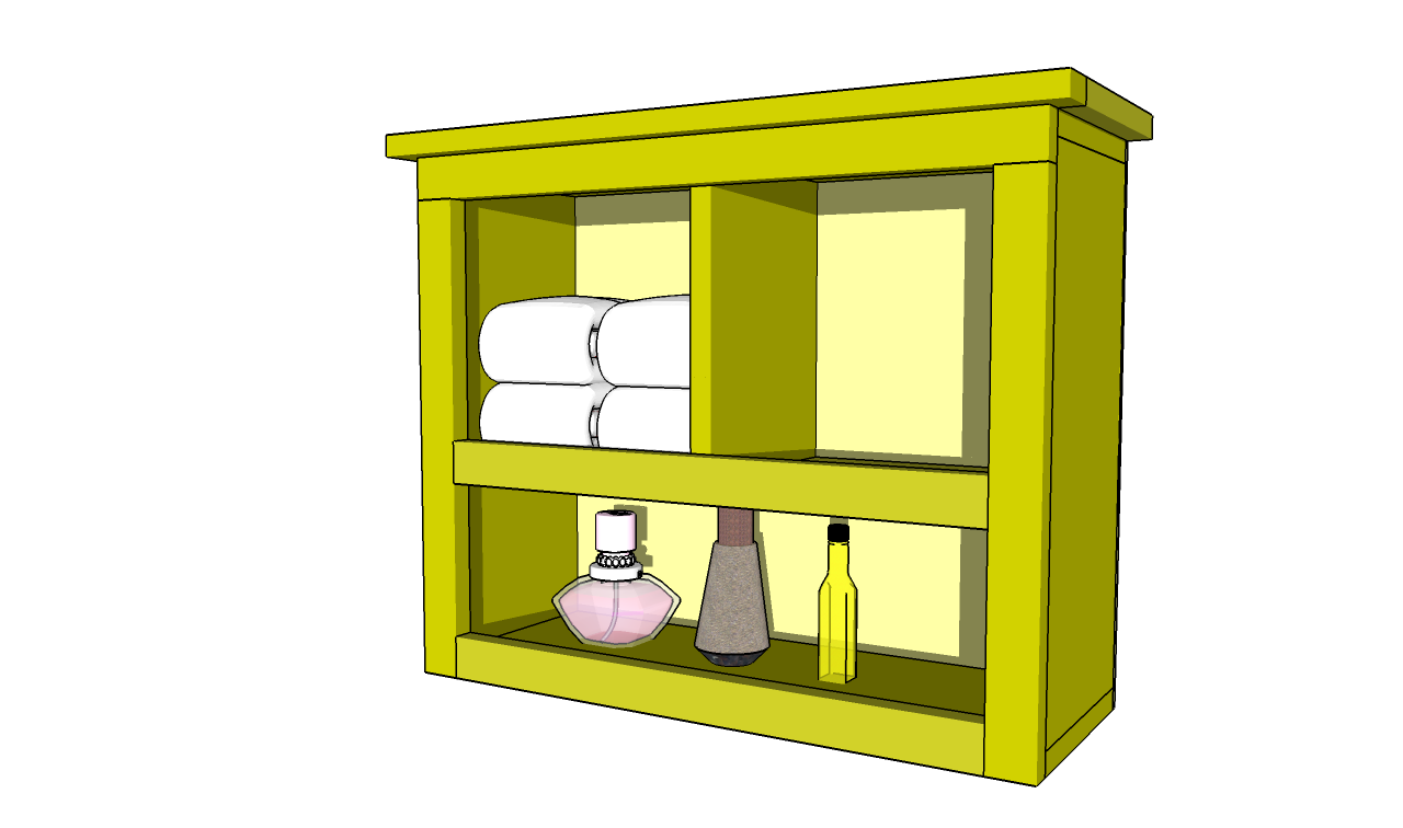 bathroom shelf plans