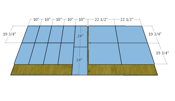 Sixth sheet of plywood