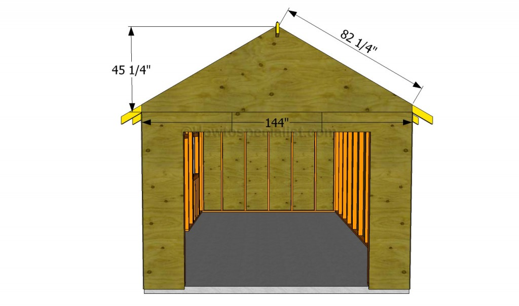 How to build a garage roof howtospecialist how to for Gable roof garage