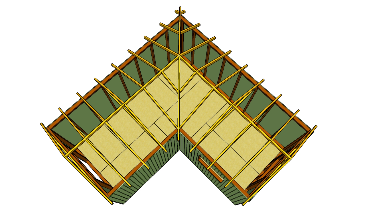 How to build an l-shaped roof