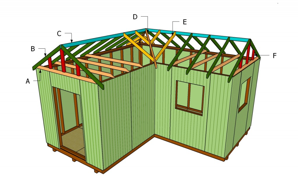 How to build an l shaped roof howtospecialist how to for L shaped shed