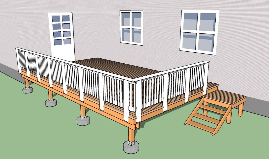 Building deck railings