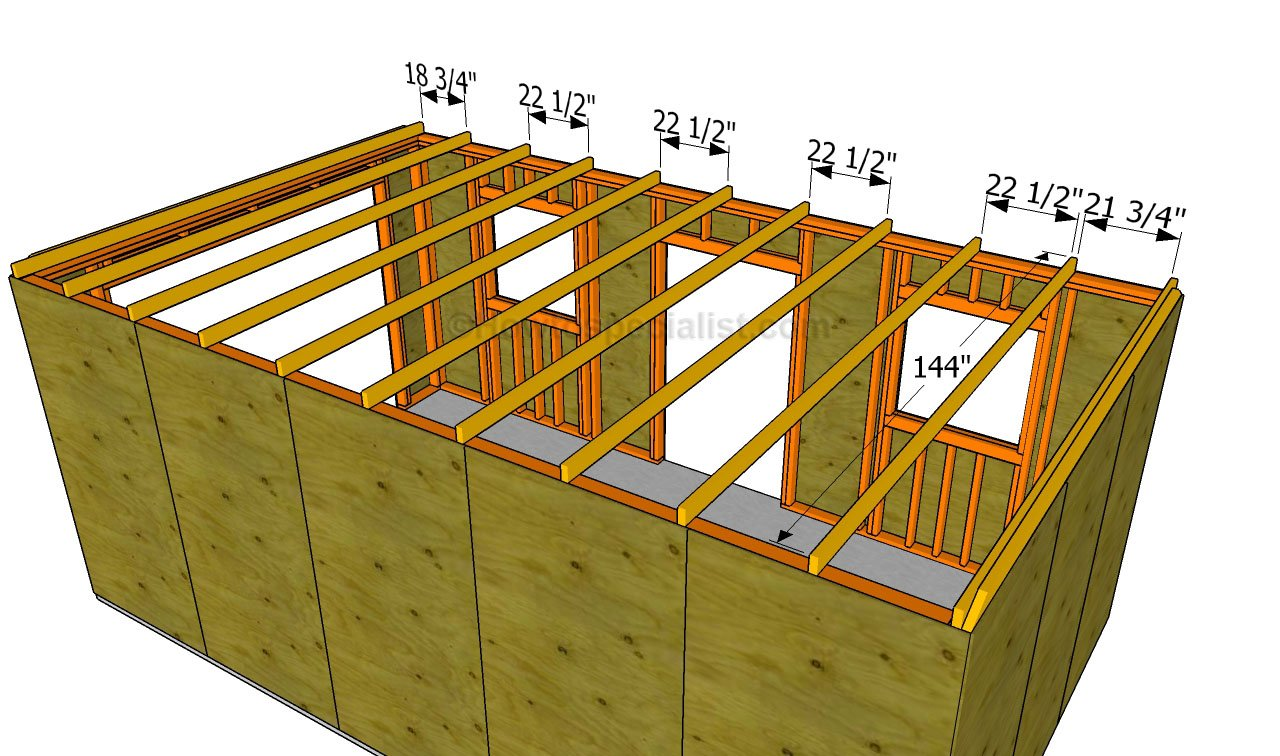 how to build a garage roof fitting the bottom rafters - How To Build A Garage