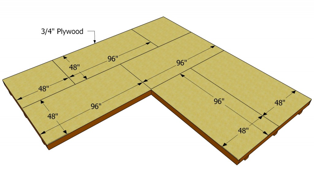 Fitting the plywood flooring