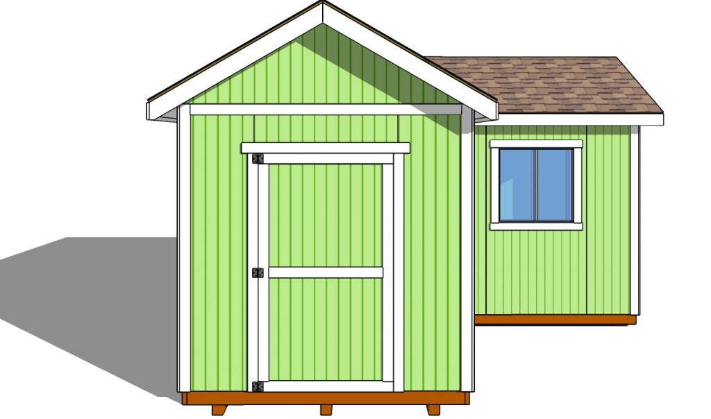 Fitting the shed door