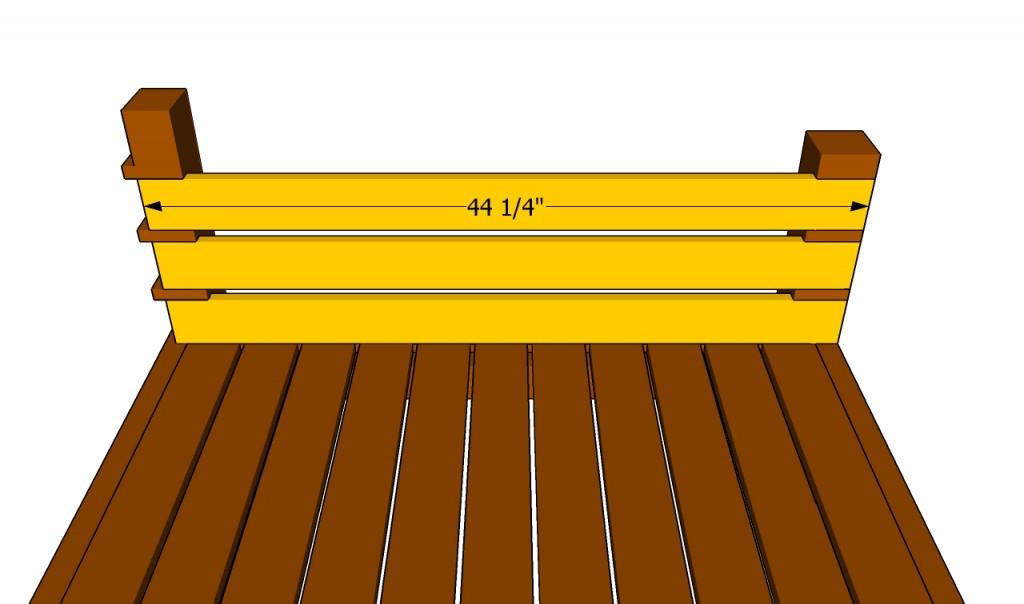 Fitting the side slats