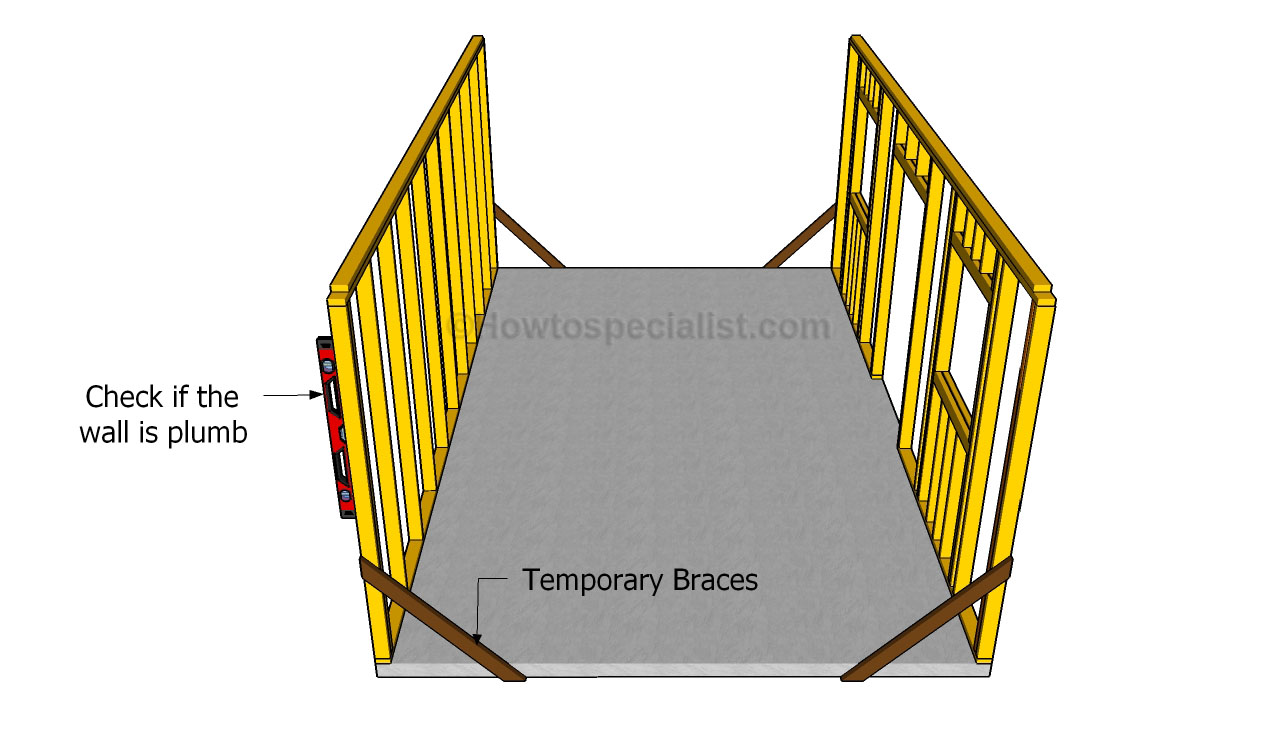 How To Build A Detached Garage Howtospecialist Building Detatched Wiring Diagram Fitting The Walls