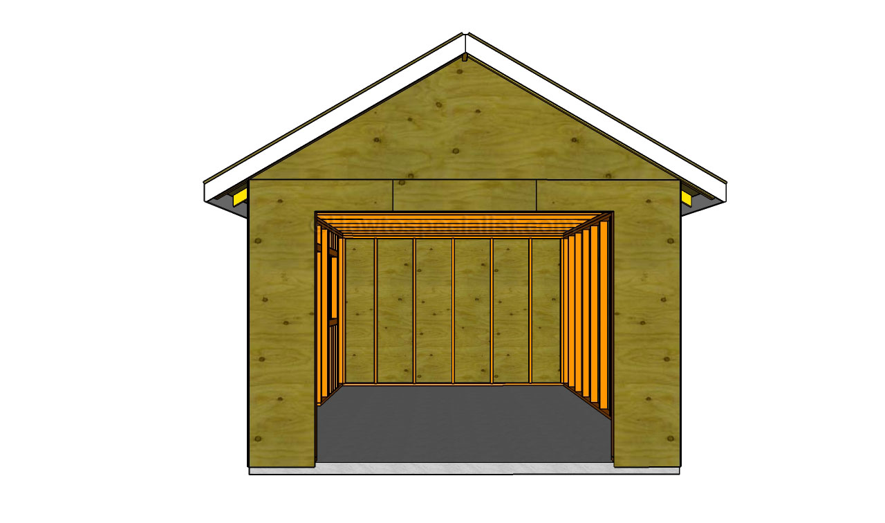How to build a detached garage howtospecialist how to for Small garage plans free