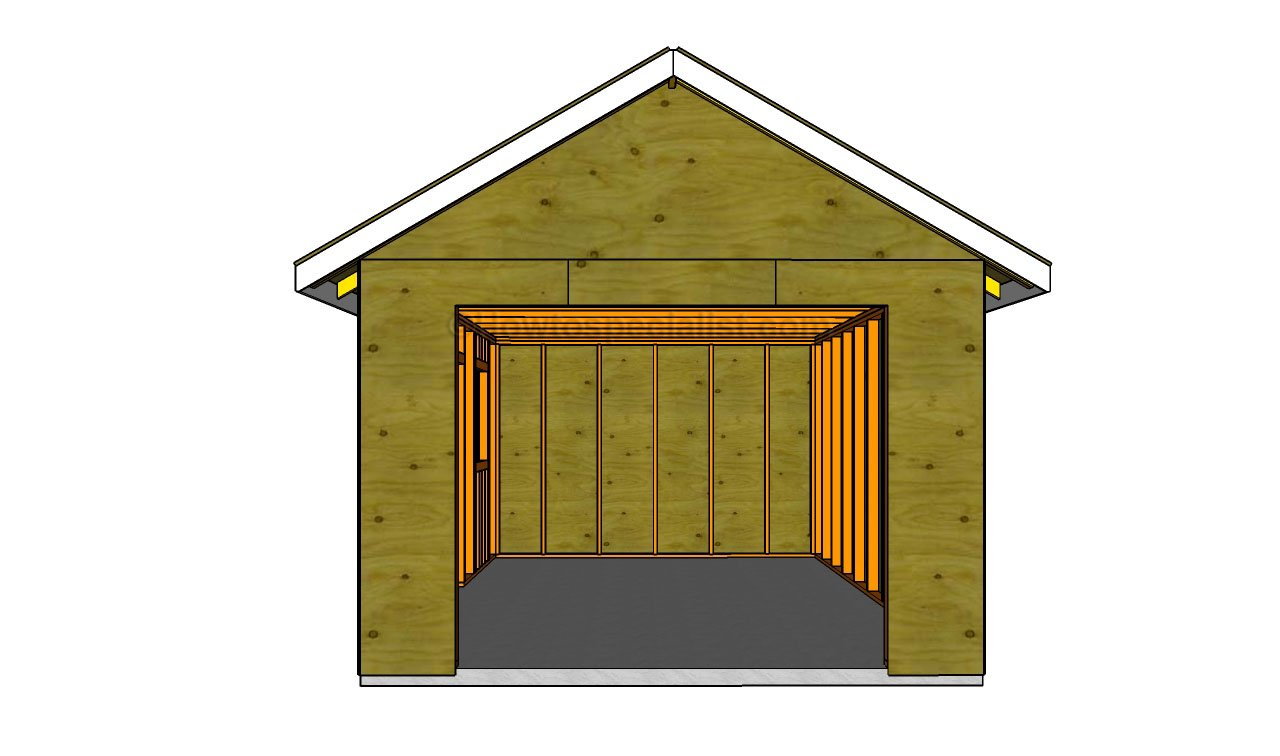 How to build a detached garage howtospecialist how to build step by step diy plans - Garage plans cost to build gallery ...