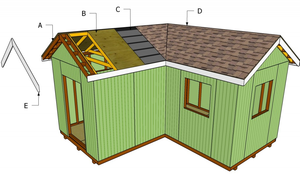 How to install roof decking howtospecialist how to for L shaped shed