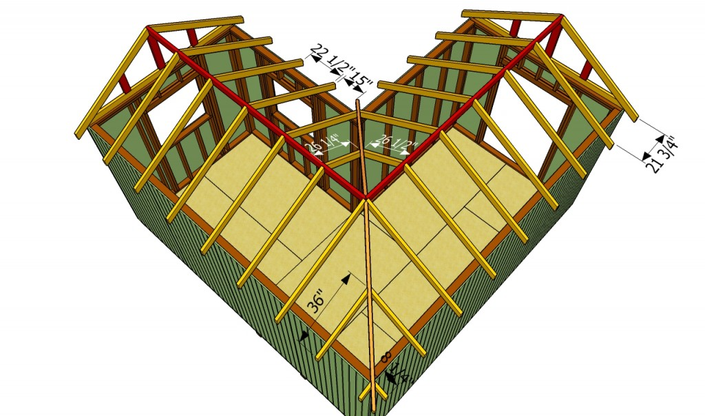 build an l-shaped roof   HowToSpecialist - How to Build, Step by Step ...
