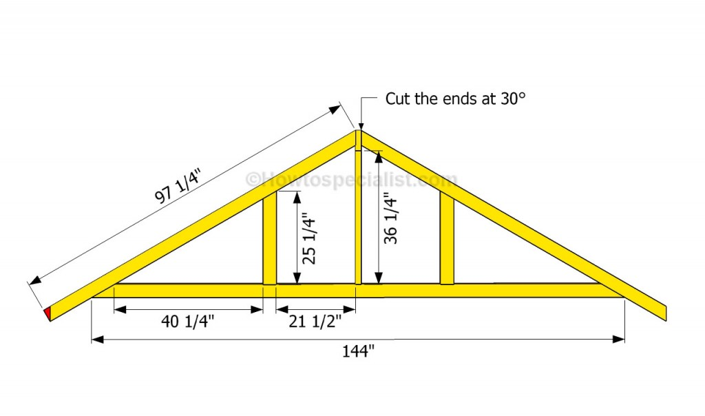 How to build a garage roof howtospecialist how to for How to order roof trusses