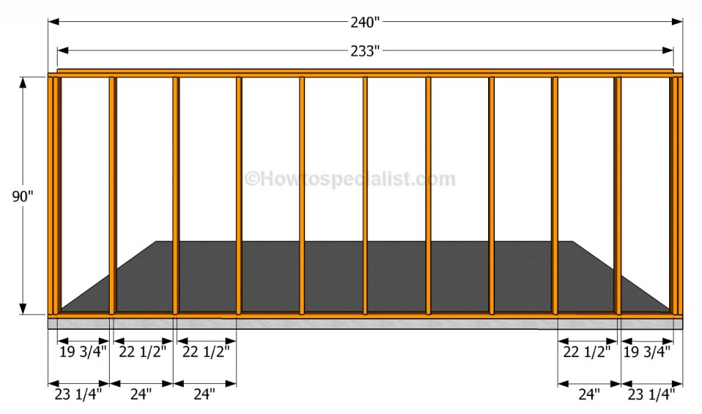 Side wall plans