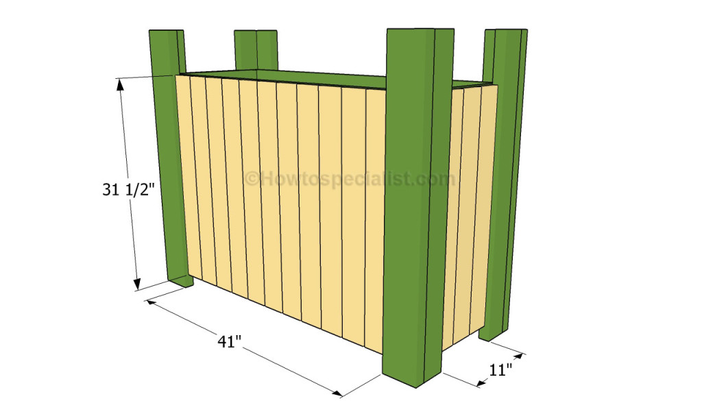 Attaching the exterior slats