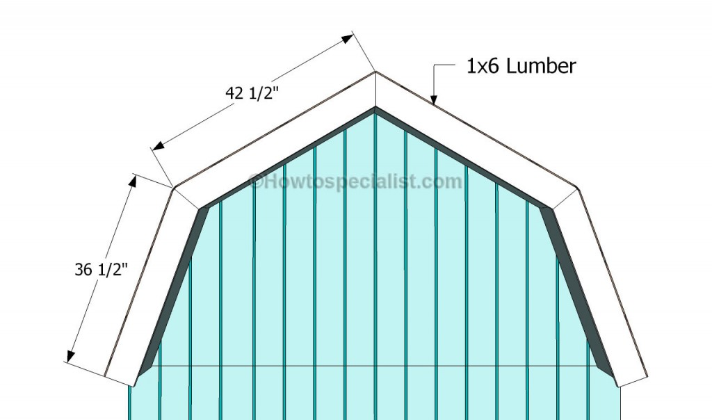 how to build a gambrel roof shed