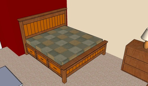 how to build a bed with drawers
