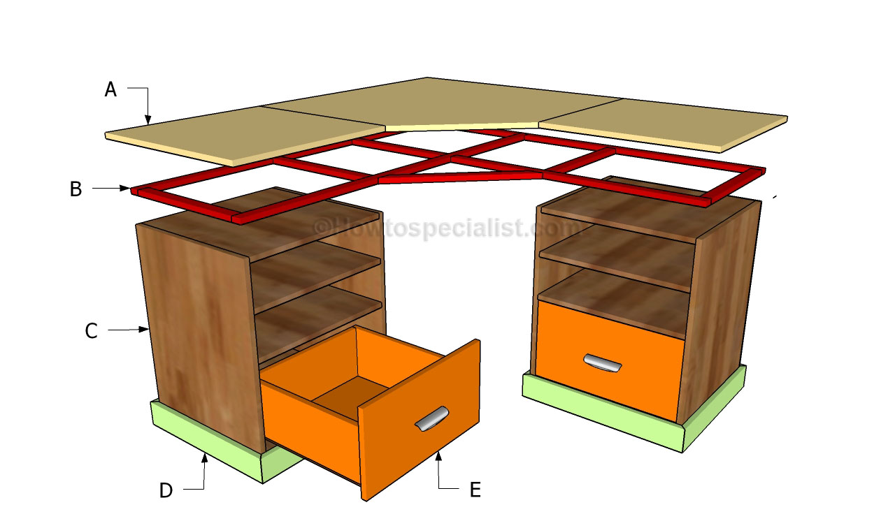 l shaped desk plans woodworking