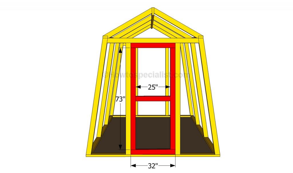 Building a greenhouse door