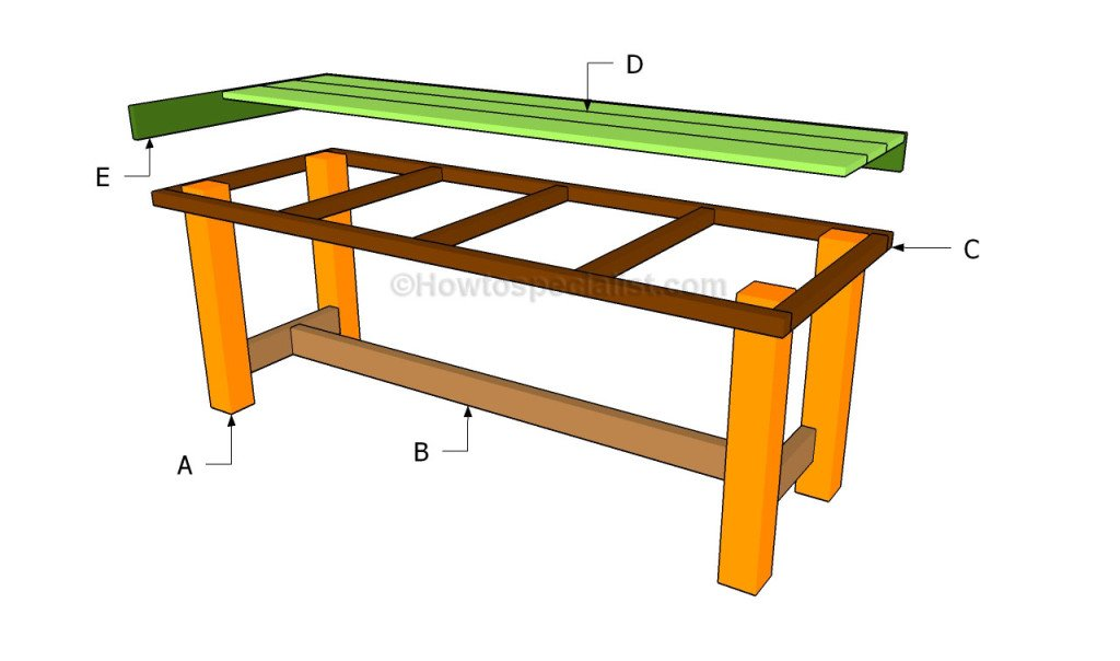 Permalink to build outside wooden table