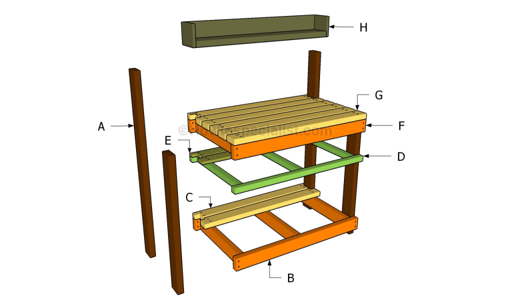 ... potting bench | HowToSpecialist - How to Build, Step by Step DIY Plans