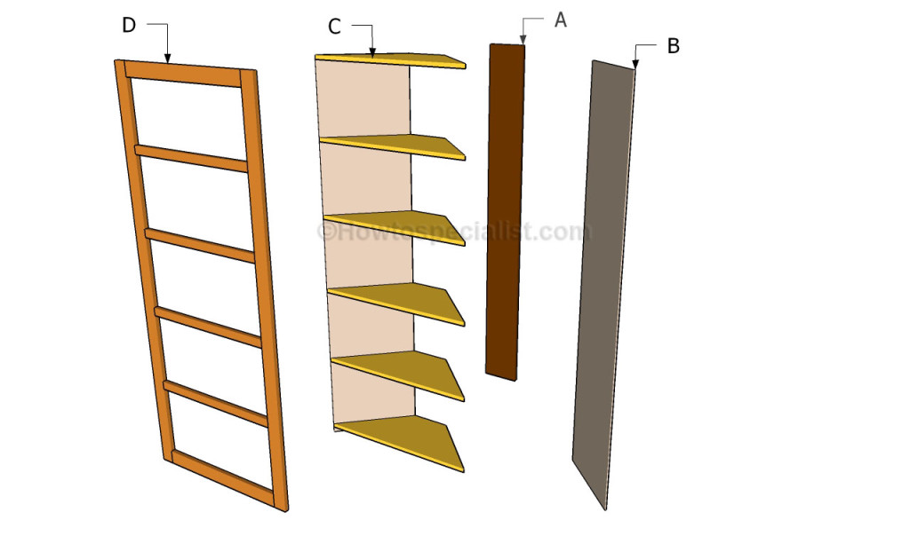 ... shelves | HowToSpecialist - How to Build, Step by Step DIY Plans