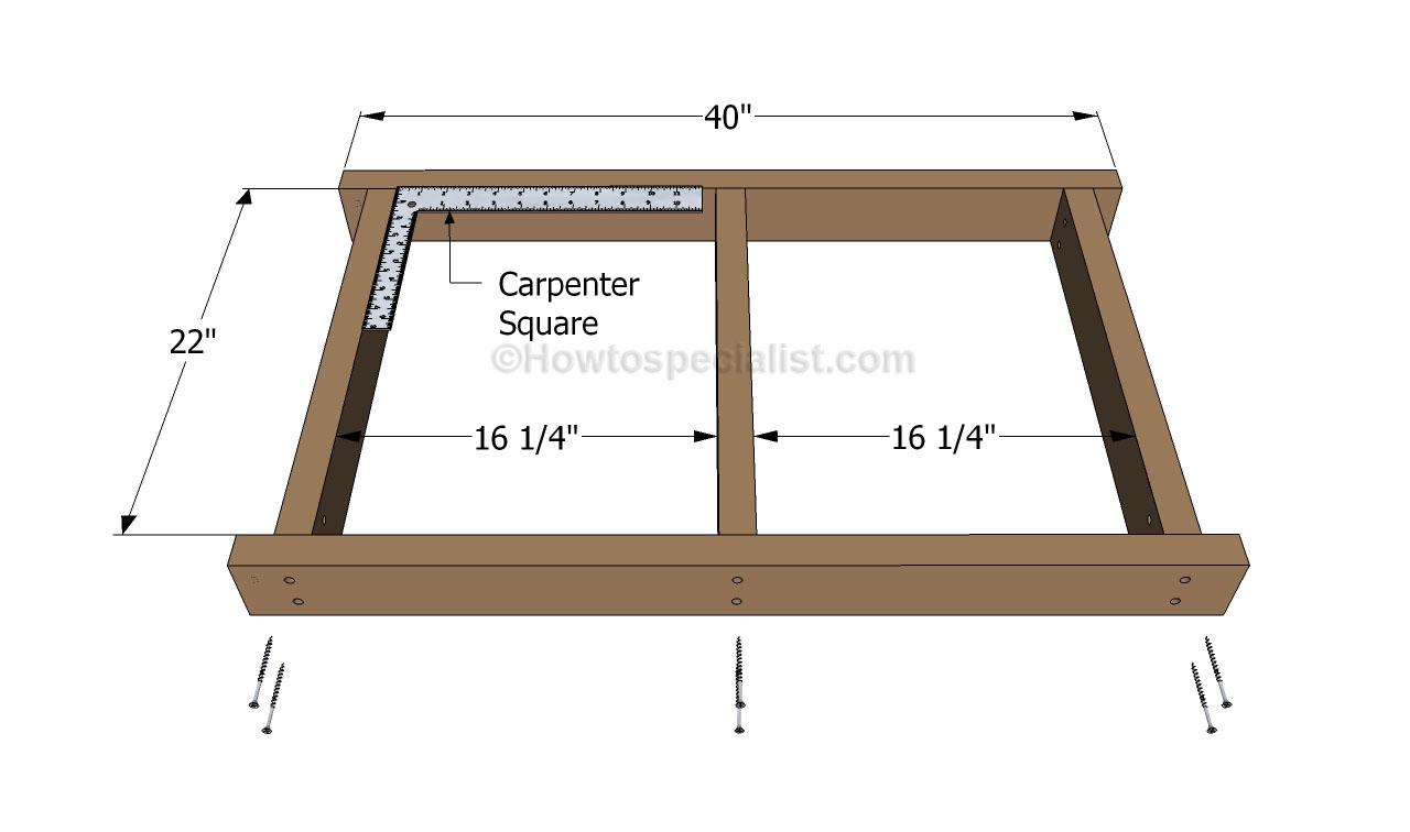 how to make a garden bench from a bed frame