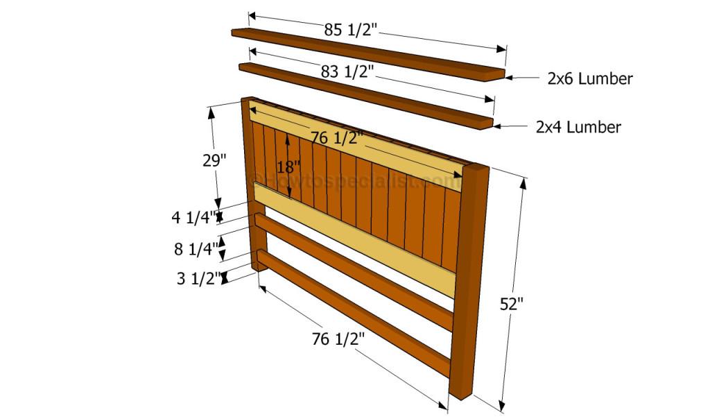 Building the headboard