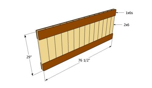 Building the headboard panel