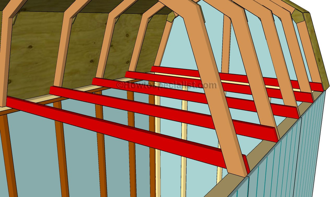 How To Build A Gambrel Roof Shed Howtospecialist How