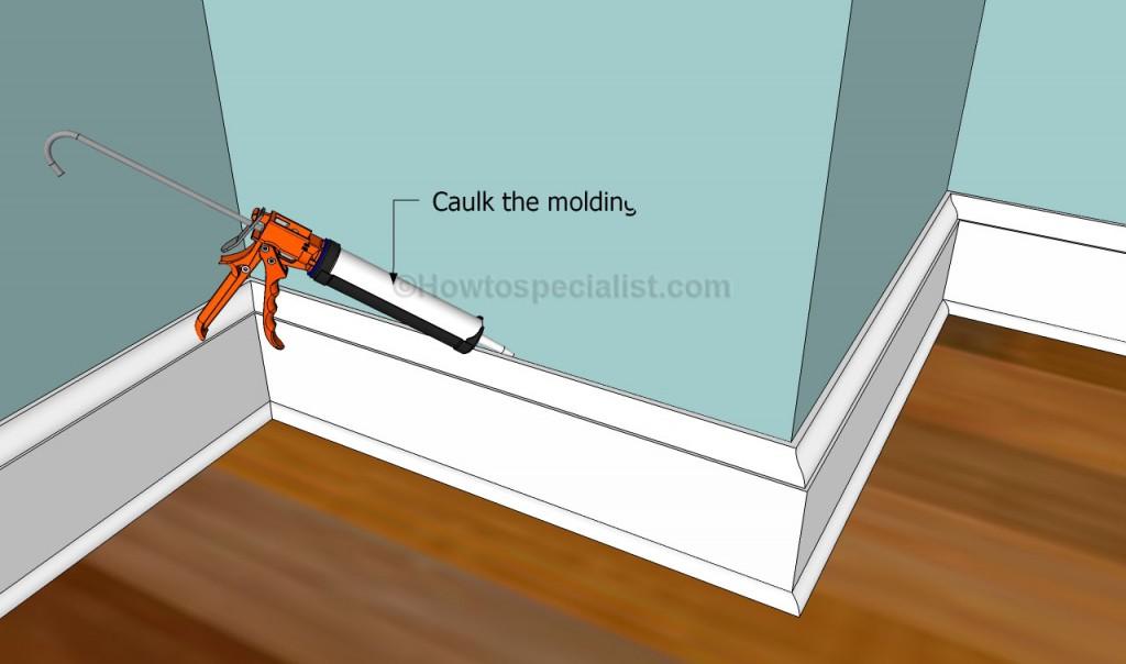 Caulking the molding