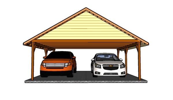 DIY double carport