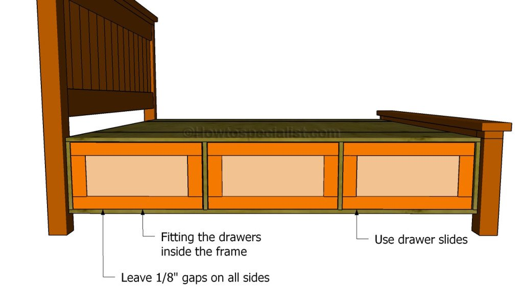Fitting the drawers