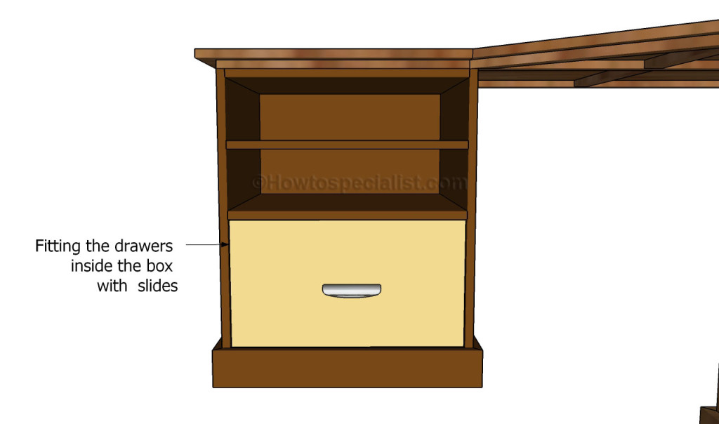 how to build a simple desk with drawers