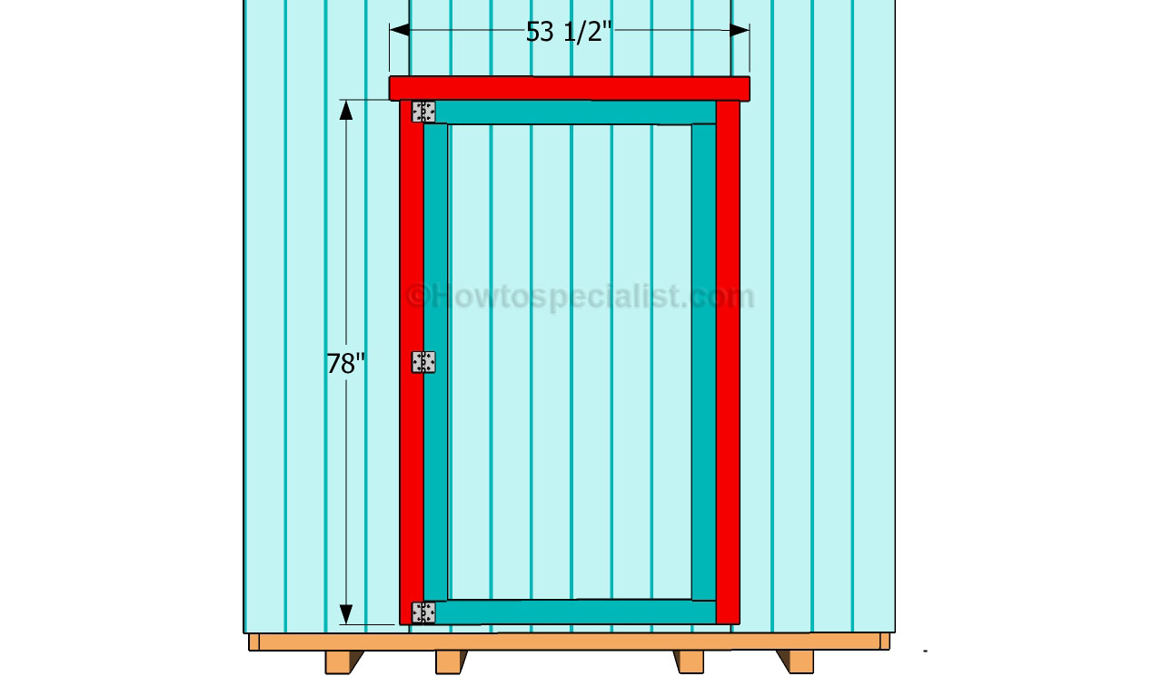 How to make a shed door