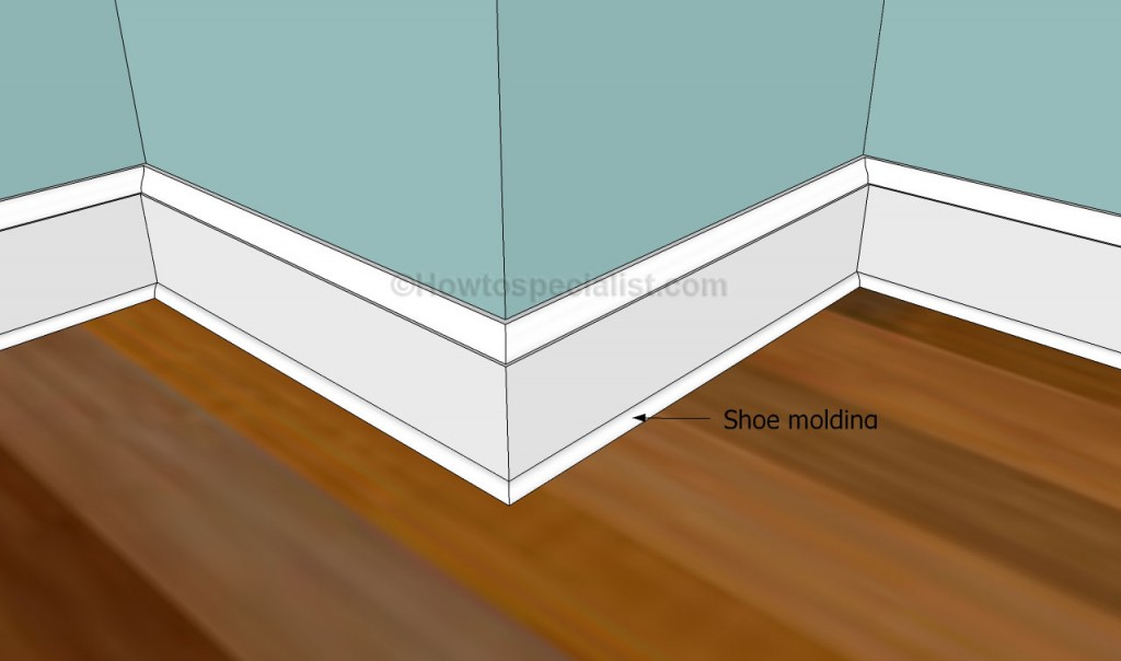 Fitting the shoe molding
