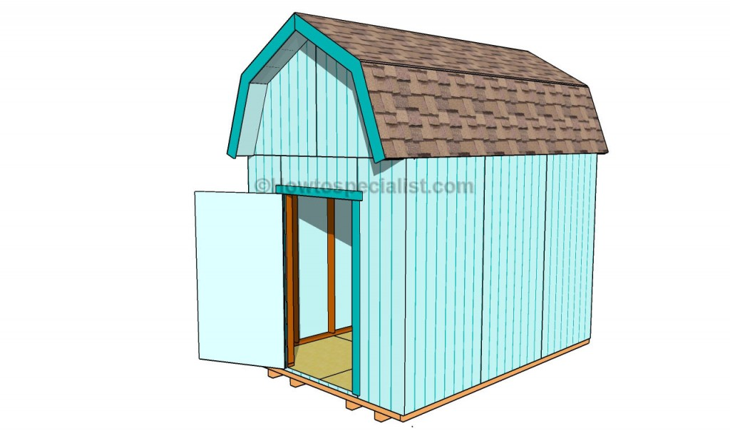 How to build a gambrel shed roof