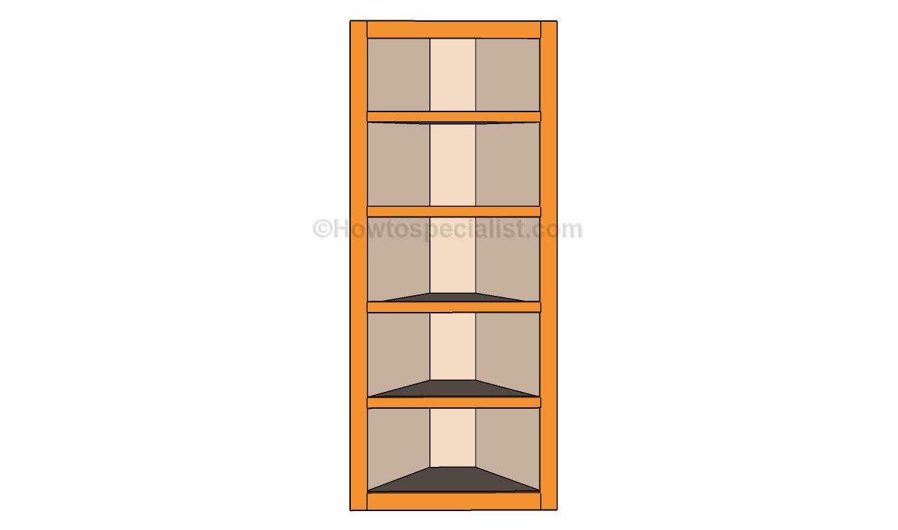 How to build corner shelves