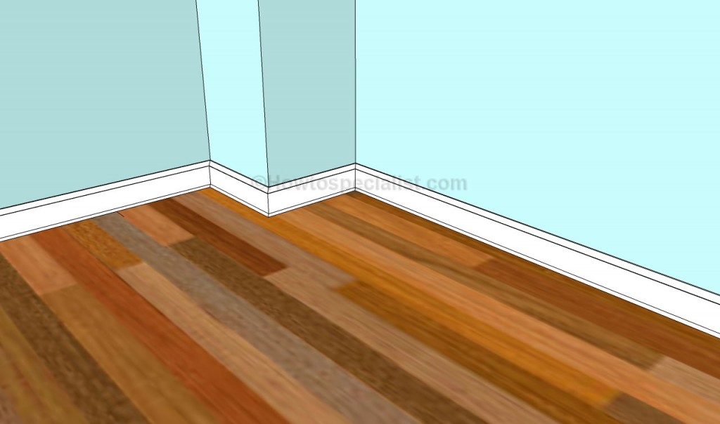 How to install a baseboard trim