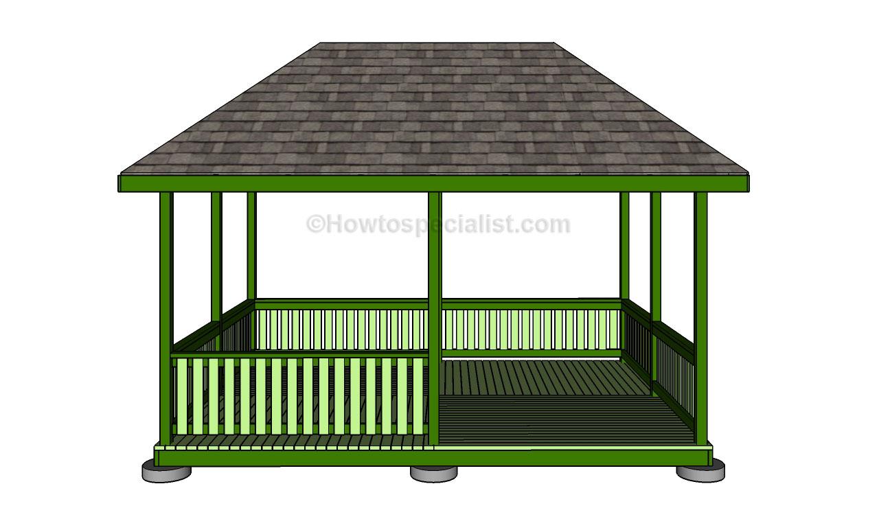 Galerry gazebo rectangular plan