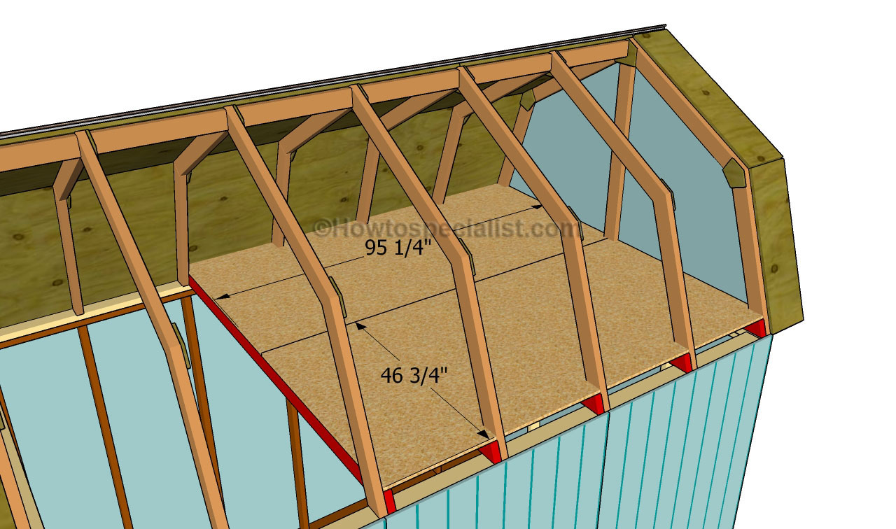How to build a gambrel roof shed | HowToSpecialist - How ...