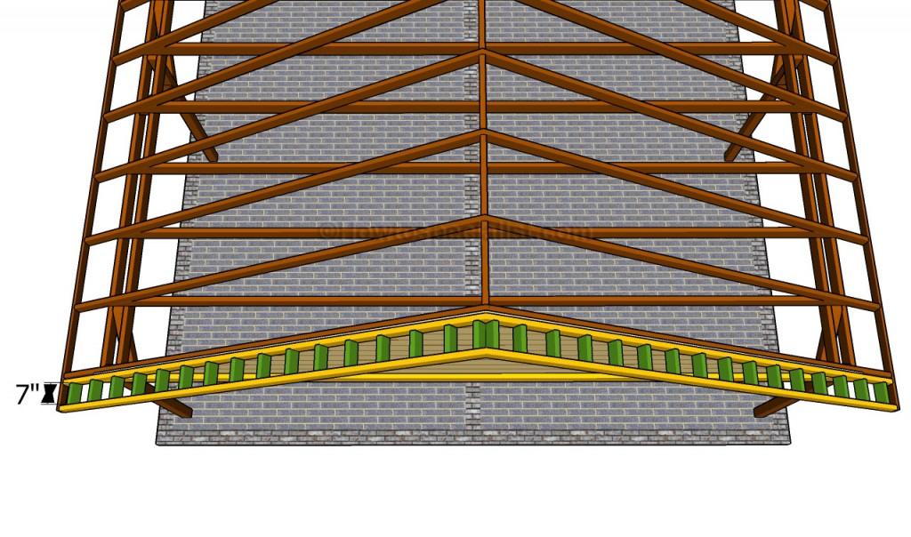 Installing the overhangs