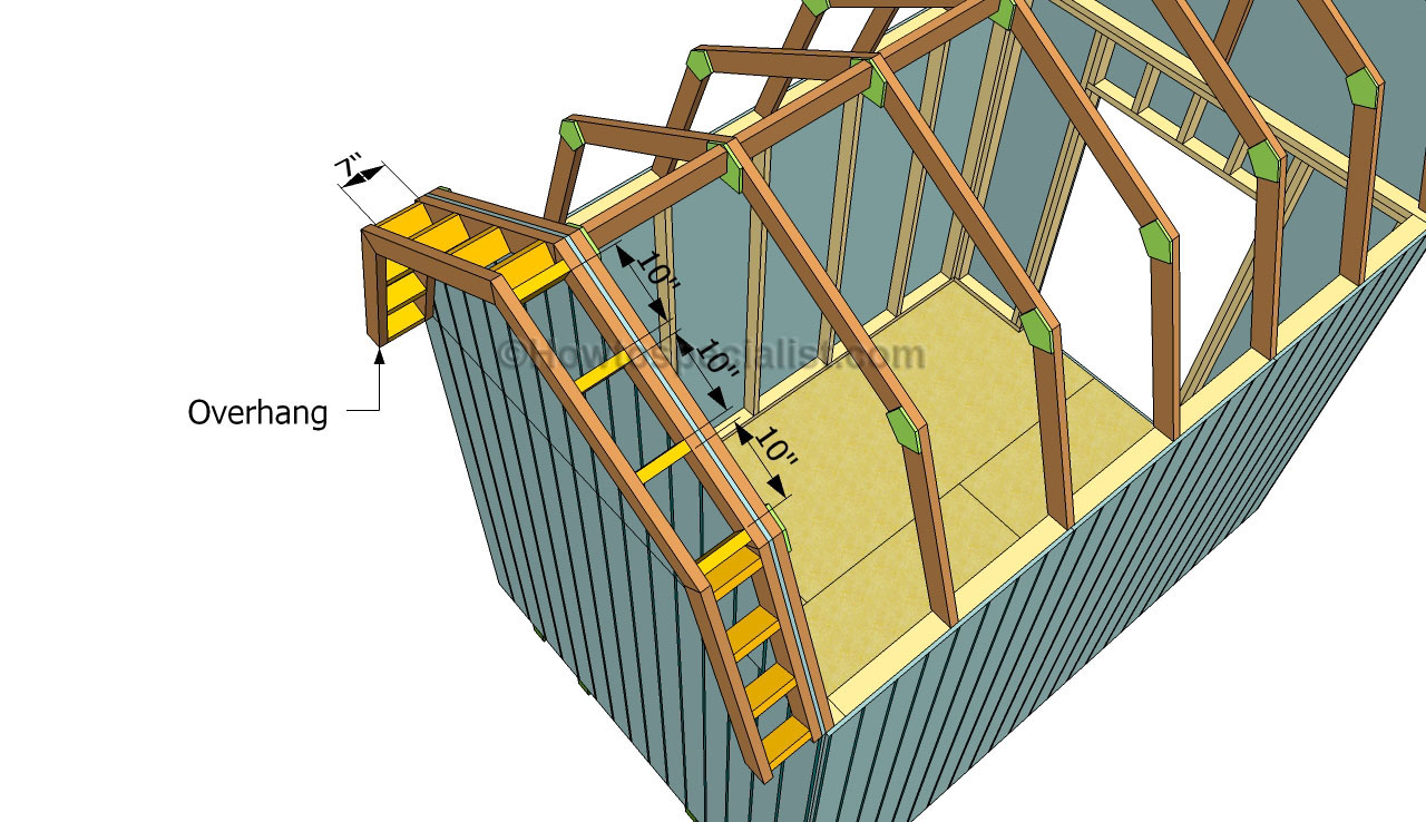 ... roof shed | HowToSpecialist - How to Build, Step by Step DIY Plans