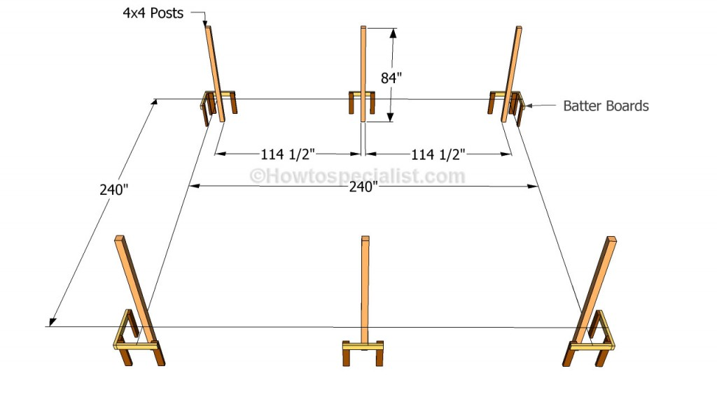 How to build a double carport howtospecialist how to for 3 car carport dimensions