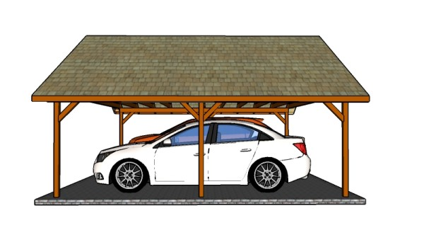 How to build a double carport howtospecialist how to for 2 car carport plans